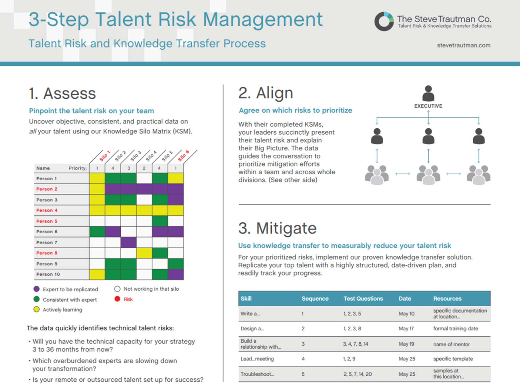 3-step Talent Risk Management Process Overview